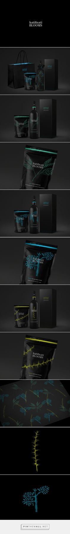 HATIFNATI BLOOMS GOODIES packaging on Behance curated by Packaging Diva PF. Hatifnati BLOOMS is a concept design for luxury goodies. Idea was to create special edition of wines and sweets in a dark and mysterious moods.