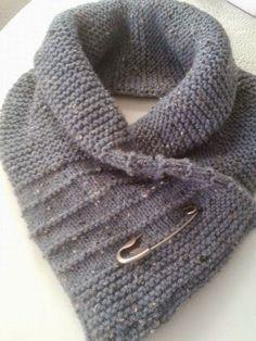 warme sjaal-col       Deze warme sjaal-col brei je met naalden nr. 5,  van 3 bollen wol, b.v. Zeeman, die hebben een  leu...