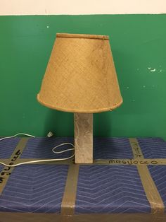 #438 pair of marble lamps