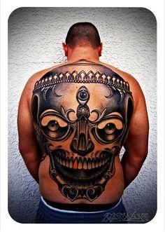 Killer back tattoo by Rex Roxwell at Good Luck Tattoo Studio, Richmond. Australian Tattoo Scene. #tattoo #tattoos #ink