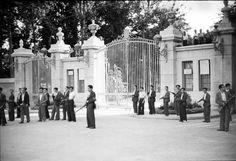 Foto de la Puerta del Ángel en tiempo de guerra MADRID