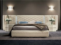 Bed with upholstered headboard Chanel Collection by Dall'Agnese | design Studio Arbet