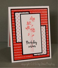 stampTV - Card making, rubber stamping techniques and project videos for papercrafters Card Making Inspiration, Making Ideas, Happy Birthday Cards, Birthday Wishes, Birthday Greetings, Card Making Techniques, Card Tutorials, Card Sketches, Paper Cards
