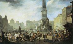 Johannes Lingelbach - Piazza Navona in Rome