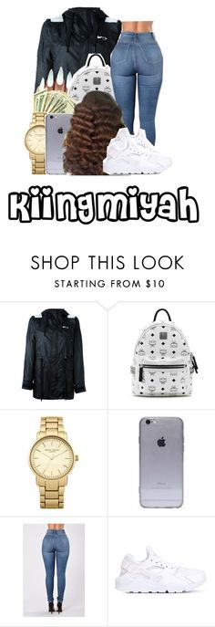 """""""Accept my presence"""" by kiingmiyah ❤ liked on Polyvore featuring NIKE, MCM and Topshop"""