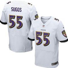 242c34314 Nike Ravens  13 John Brown White Men s Stitched NFL New Elite Jersey  Terrell Suggs
