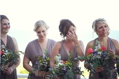 Pin for Later: 40+ Adorable Photos You Need to Take With Your Bridesmaids Tears of Joy See the full wedding here. Photo by Dana Laymon Photography