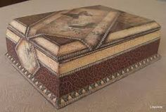 Caja contracolada Decoupage Box, Decorative Boxes, Country, Vintage, Collection, Home Decor, Marquetry, Boxes, Hand Crafts