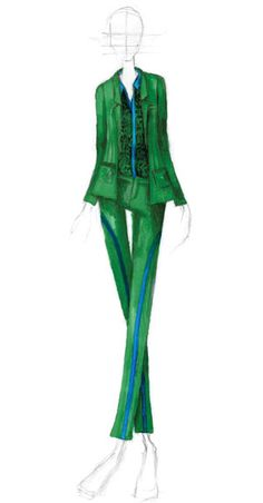 Pantone: Fashion Color Report Spring 2013 - Emerald & Monaco Blue by NAHM by Alexandria Hilfiger and Nary Manivong