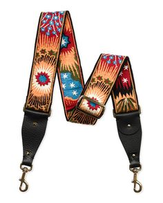 V303Q Valentino Enchanted Wonderland Guitar Strap for Handbag, Black Multi