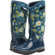 Bogs Classic Watercolor Tall (Legion Blue Multi) Women's Rain Boots (5.180 RUB) ❤ liked on Polyvore featuring shoes, boots, blue, mid-calf boots, tall rain boots, cold weather boots, tall boots, tall knee high boots and mid calf rain boots