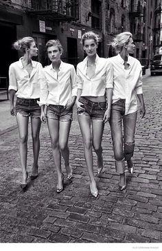 shorts + heels