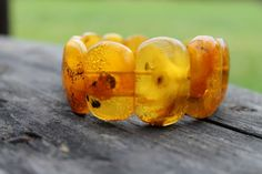Natural Baltic Amber Stretch Bracelet Classic by DreamsFactory, $160.00