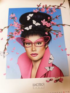 an image from an old Luxottica Retail calendar from 1995, I just love this........