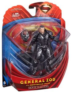 DC Comics Adult Collector Superman Man of Steel General Zod w/ Armor Figure! NIP #DCComics