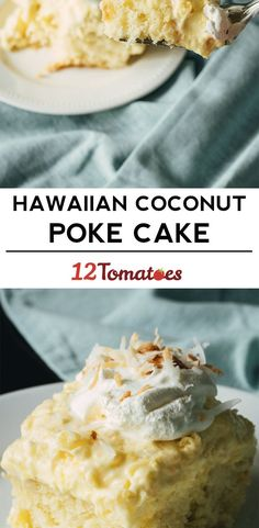 Hawaiian Poke Cake The boyfriend devoured in 2 days! YUMMY cake and make 2 if you want a piece! Potluck Desserts, 13 Desserts, Delicious Desserts, Yummy Food, Healthy Food, French Vanilla Cake, Vanilla Cake Mixes, Coconut Poke Cakes, Hawaiian Poke