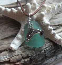 Sea glass jewelry Teal Sea Glass and Silver by byNaturesDesign, $15.00