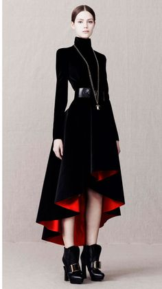 Alas, I am too short for such an awesome coat by Alexander McQueen.