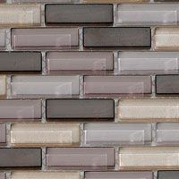 Look How The Glass Tile Backsplash Contains All Of The