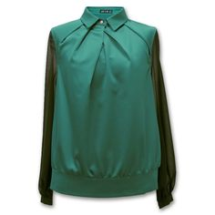 Find More Blouses & Shirts Information about Jasi & Co JSDJ 2255 Green Long SleeveTop Turn down Collar Shirt Pleated With Panels,High Quality shirt long sleeve men,China shirt different color collar Suppliers, Cheap collar black from Jasi & Co on Aliexpress.com