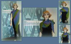 *11012* De leftie van Martina Behm gemaakt door Corine in Kauni effektyarn. Deze shawl hangt in de winkel dus wil je hem eens komen bekijken dan ben je van harte welkom en kan Corine je uitleg geven over het patroon. Het patroon is een kooppatroon van de ontwerpster Martina Behm. Garen: http://bloemendalwol.nl/kauni/443-kauni-effectyarn-120-gram-per-bol.html