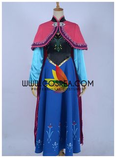 Frozen Anna Winter Outing Simple Cosplay Costume