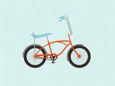 Bike Illustrations by Jacob Boie, via Behance