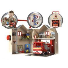 Fireman Sam Deluxe Fire Station Playset & Fire Engine Jupiter Set by Character Options Fireman Sam Toys, Fireman Party, Lego Store, Toy Store, Crazy Toys, Samar, Tk Maxx, Toys Online, Baby Boy Rooms