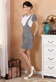 Improved Chinese Women's Cotton Mini Dress Cheongsam