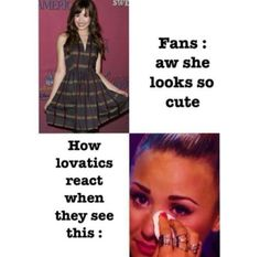 So true. I notice it. I know it's this pic. Comment if u know why lovatic cry in that pic