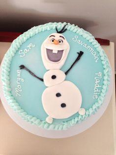 Olaf Cake, by Amy Hart