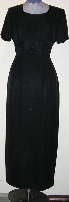 80s black dress sheath short sleeves back by ChloeandNatalieVtg, $29.00