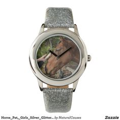 Horse_Pat,_Girls_Silver_Glitter_Watch. Wristwatches