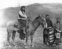Nez Perce indians and horses