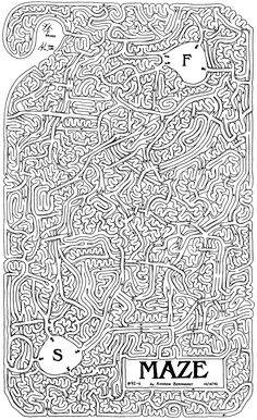/picturesofmazes | 10 Printable Mazes Nearly Impossible to Solve