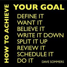 Inspiration : Follow these steps on  How to Achieve your Goal