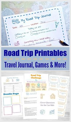 Printable road trip games and activities -- fun things for kids to do in the car and for family vacations! Ideas like Ispy scavenger hunts travel journal and more non-tech ideas to keep kids and tweens busy & happy on the trip! My Road Trip, Road Trip With Kids, Family Road Trips, Travel With Kids, Family Vacations, Summer Vacations, Family Travel, Road Trip Activities, Road Trip Games