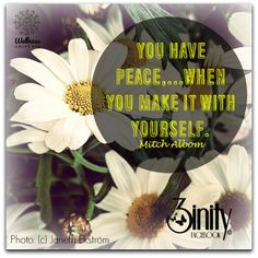 you create your own peace. #3inity #peace #positivethought #dailyinspiration