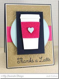 Perk Up, Coffee Cup Die-namics, Horizontal Stitched Strips Die-namics, Polka Dot Cover-Up Die-namics, Stitched Circle STAX Die-namics, Stitched Rectangle STAX Die-namics - Jodi Collins #mftstamps