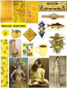 Yellow by PaperScraps, via Flickr - free collage sheets