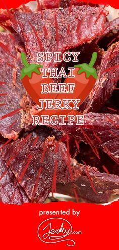 Great Free of Charge Meat snacks beef jerky Ideas, Learn how to prepare this spicy Thai dried meat at home in your. Beef Jerky Marinade, Smoked Beef Jerky, Beef Jerkey, Vietnamese Beef Jerky Recipe, Spicy Jerky Recipe, Making Beef Jerky, Homemade Beef Jerky, Jerkey Recipes, Smoker Recipes