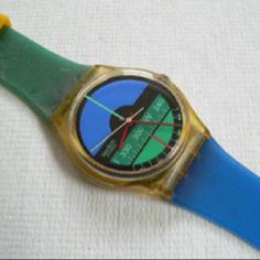 58cac386417 Swatch watch Nautilus Designed By Mario Fani 1986 Vintage Swatches Watches  artist collectible hard to find