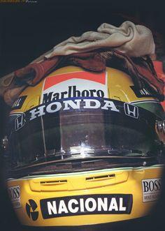 Ayrton Senna da Silva-Helmet/gloves/headgear