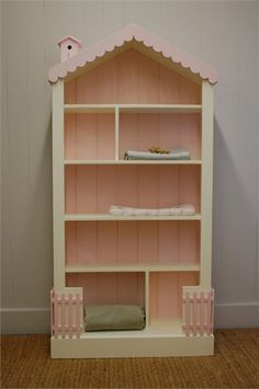 Rosenberry Rooms has everything imaginable for your child's room! Share the news and get $20 Off your purchase! (*Minimum purchase required.) Tall Cottage Dollhouse Bookcase #rosenberryrooms