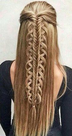 Amazing fishtail braid hairstyle.