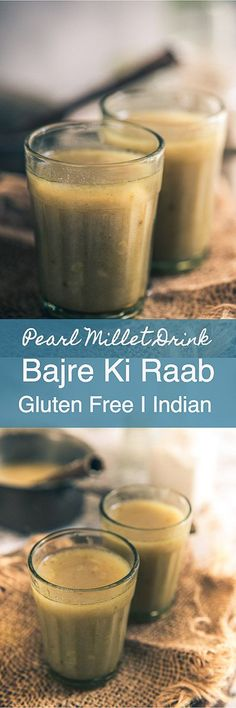 Gujarati Bajre ki Raab is a warm, soothing soup made using bajra flour, dry ginger powder, jaggery, ajwain and loads of ghee in Rajasthan and Gujarat. Indian I Drink I Bajra I Millet I Pearl Millet I Easy I Healthy I Quick I recipe I Winter I Frozen Drink Recipes, Sangria Recipes, Beer Recipes, Ragi Recipes, Fish Recipes, Gujarati Recipes, Indian Food Recipes, Vegetarian Recipes, Pizza