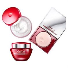 ABOUT ME This set contains: Reversalist Complete Renewal Day Cream - Smooth over cleansed face and neck to reduce the look of wrinkles. Avon Sales, Sensitive Skin, Moisturizer, How To Apply, Skin Care, Skin Products, Cream, Night, Blur