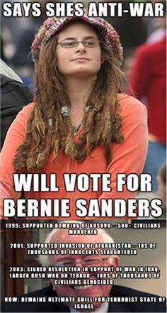 Bernie Sanders.. NOT anti-war