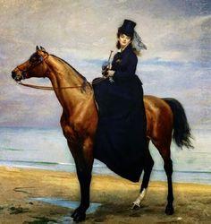 Charles Emile Auguste Carolus-Duran Poster Print Wall Art Print entitled Equestrian Portrait of Mademoiselle Croizette, 1873 (oil on canvas), None Canvas Art, Equestrian Art, Fine Art, Art Drawings, Animal Art, Art, Artwork, Horse Painting, Fine Art America