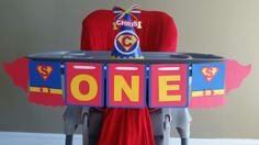 Items Similar To Supergirl High Chair Banner I Am 1 Birthday Girl Superman On Etsy